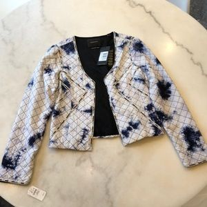 Maison Scotch NWT quilted jkt with beaded trim. L